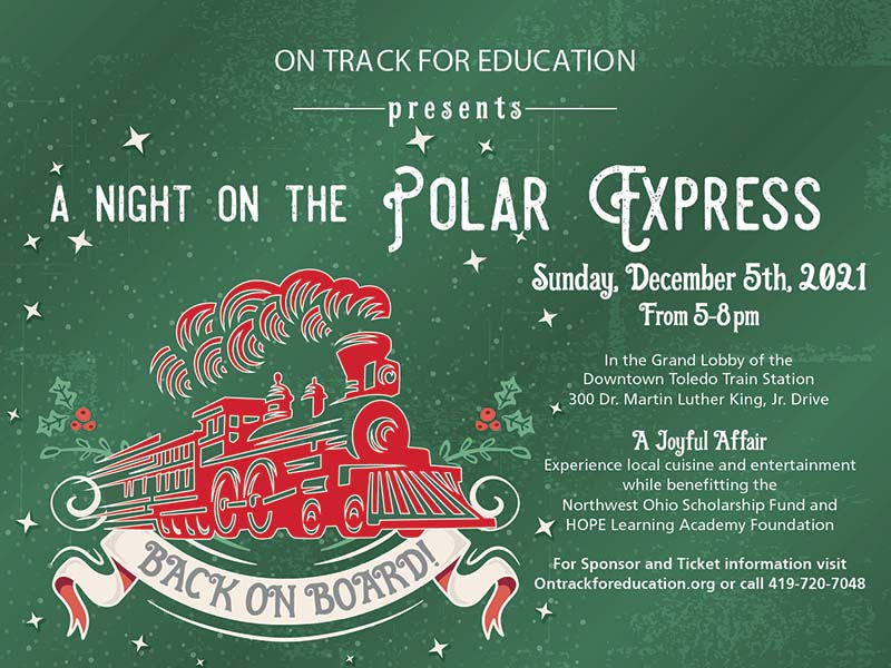 Night on the Polar Express save the date banner