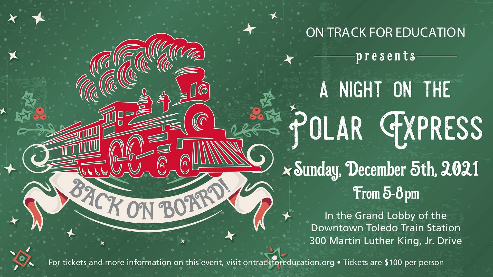 2021 Night on the Polar Express banner